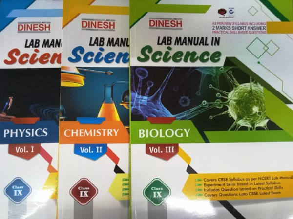 Dinesh CBSE Lab Manual In Science Set Of 3 Volume Class 9 By Navdeep Sharma Munish Ratti Cinny Malhotra 9789388186902