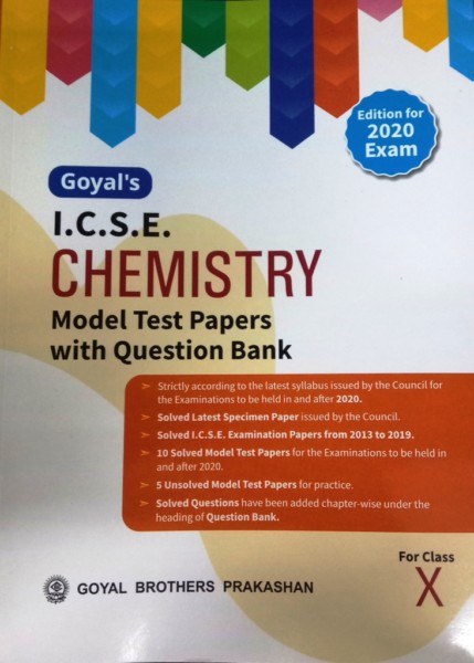 Goyal's - ICSE Chemistry Model Test Papers for Class-10 (9789352560455)